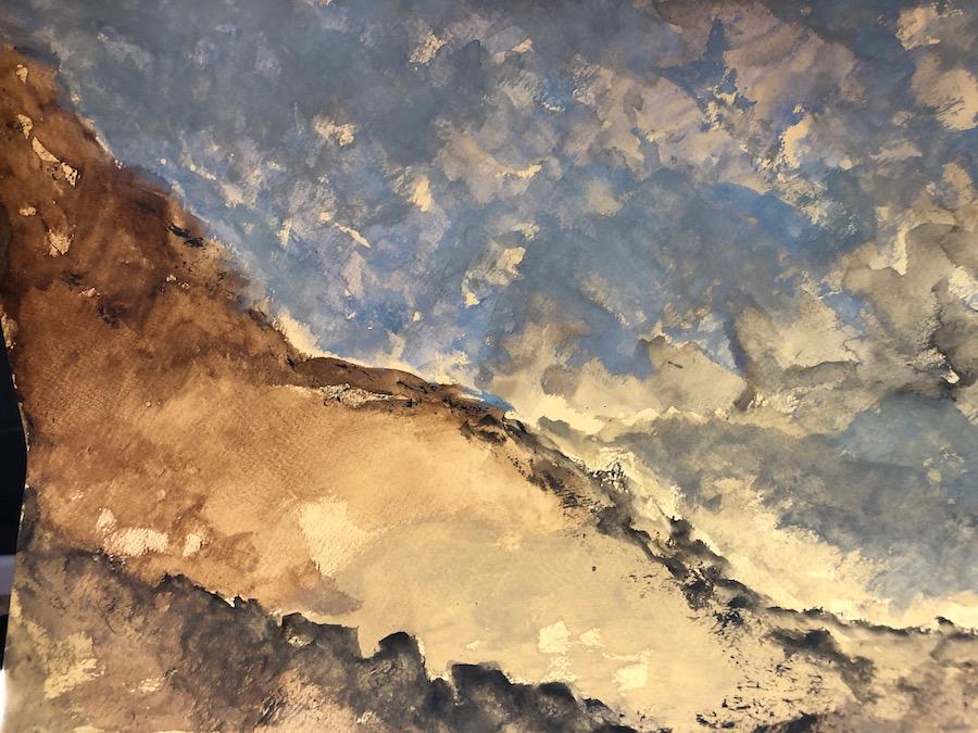 LANDSCAPE, WATERCOLOR, 42x29,5 cm ©loretosaura2018