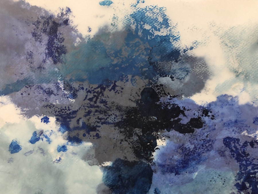 BLUE, WATERCOLOR 32,5x23,5 cm, ©loretosaura2018