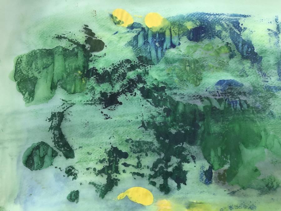 GREEN, WATERCOLOR 32,5x23,5 cm, ©loretosaura2018
