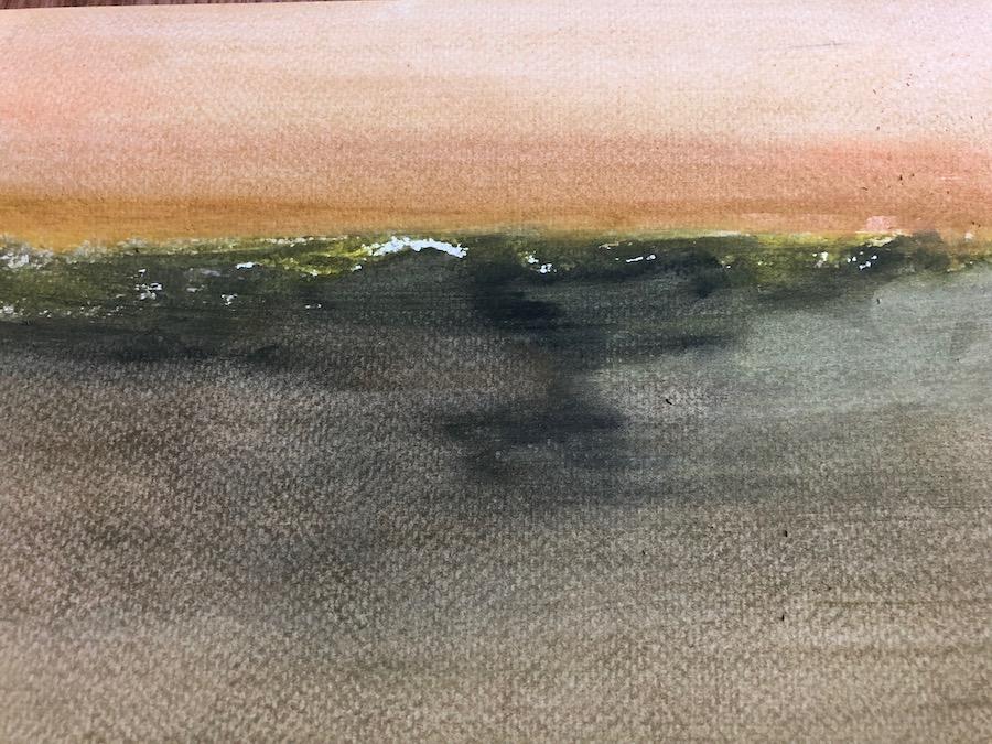 LANDSCAPE, WATERCOLOR, 29 x 20 cm, ©loretosaura 2019