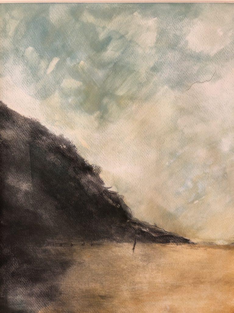 LANDSCAPE 2019, ÓLEO SOBRE PAPEL, 29 x 23 cm, @loretosaura