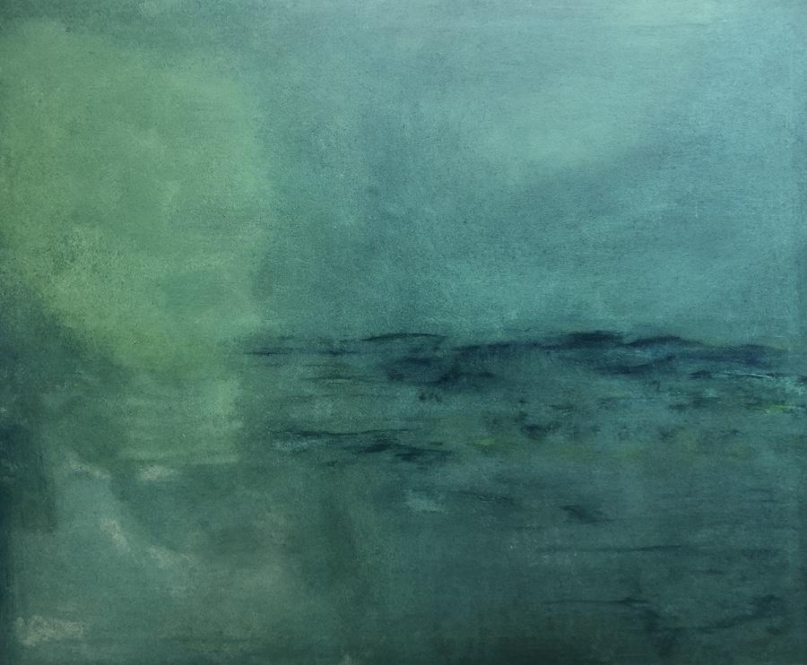 ABSTRACCIÓN,  OIL ON CANVAS, 100 X 80 cm, ©loreto saura 2019