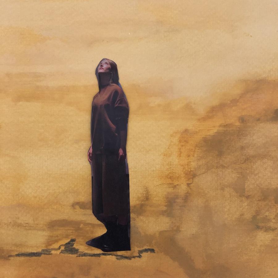 MUJER/ORIGEN,  COLLAGE SOBRE ACUARELA, 29,5 X 21 cm, ©loreto saura 2020